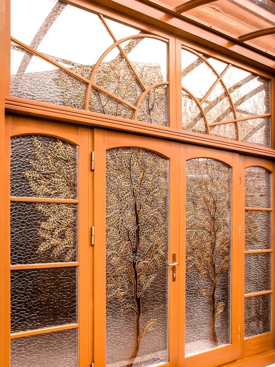 фото входные деревянные двери 1