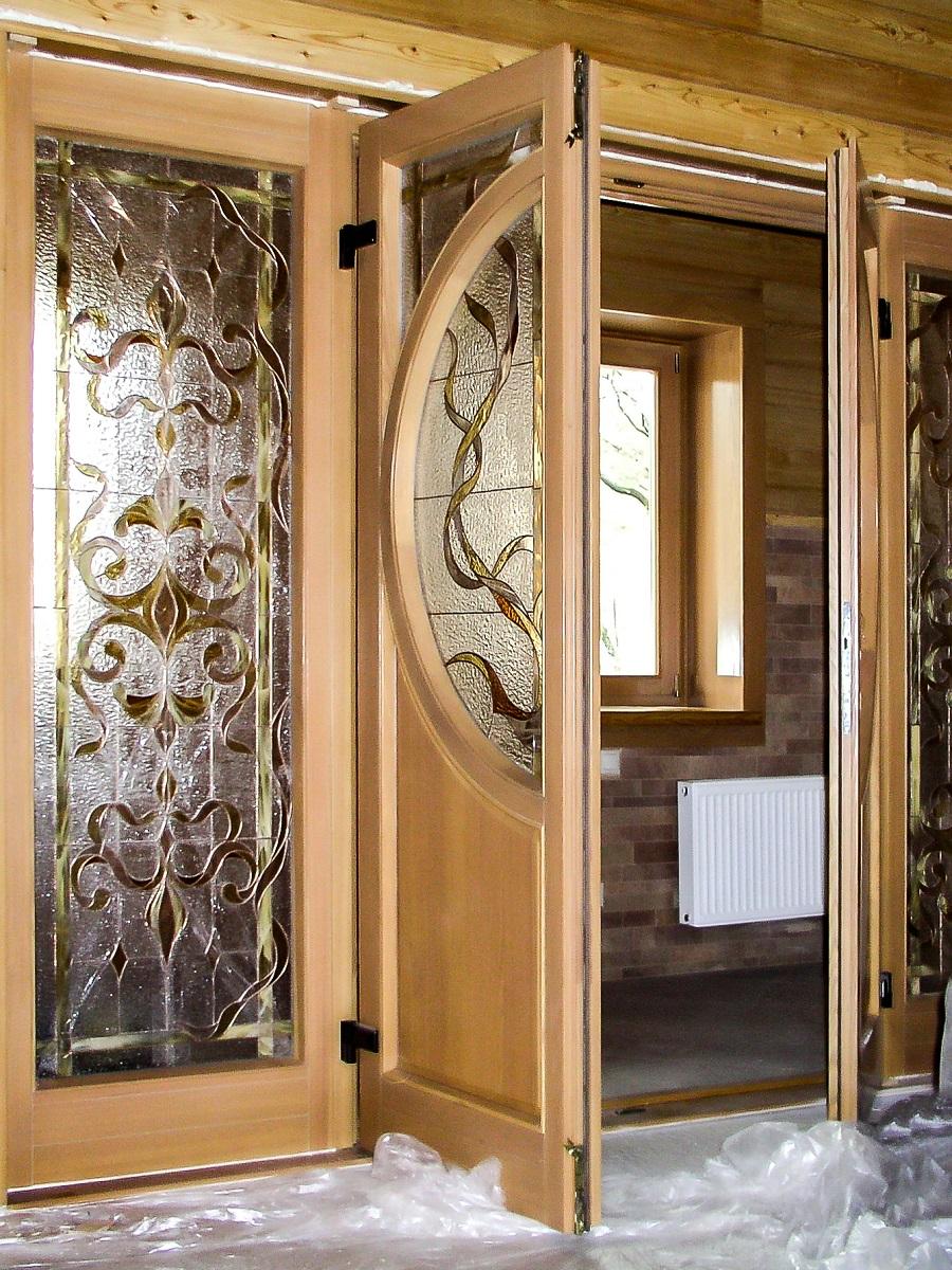 фото входные деревянные двери 2